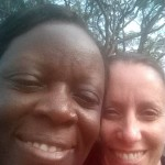 Edel and Sue in Kenya
